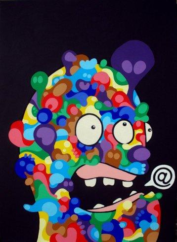 Mail me!, 2012, crilico su tela, 50×70