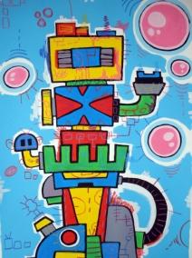 bubble machine - 70x100acrilic on paper € 120