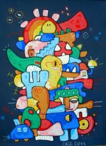 I like rainbow - cm 70 x 100tecnica mista su carta € 120