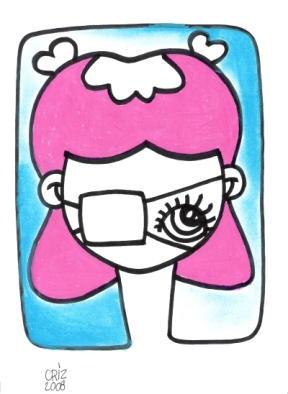 Little nurse with wound- ink on paper € 30