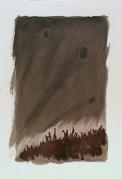 Piccolo paesaggio tecnica mista su carta cm 18 x 23 € 50