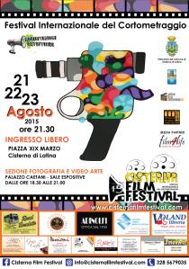 La locandina della prima edizione del Cisterna Film Festival